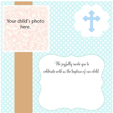 invitation card for baptism of baby boy template baby boy baptism invitations