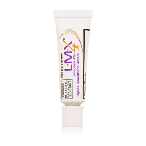 L Lmx l m x 4 topical anesthetic skin numb