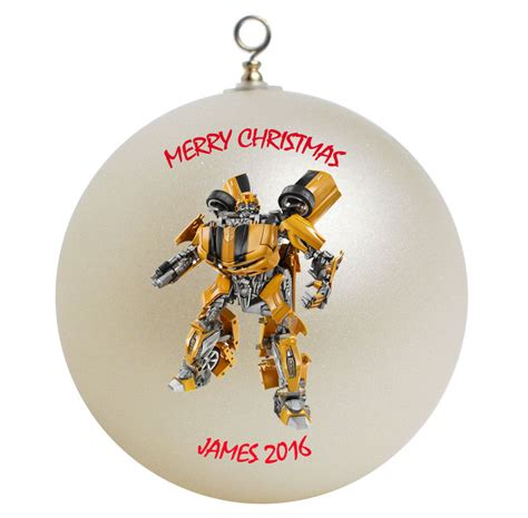 personalized transformers bumblebee christmas ornament ebay