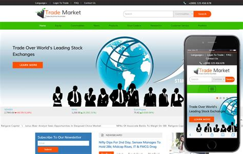 Trade Market A Corporate Business Bootstrap Responsive Web Template Market Website Template
