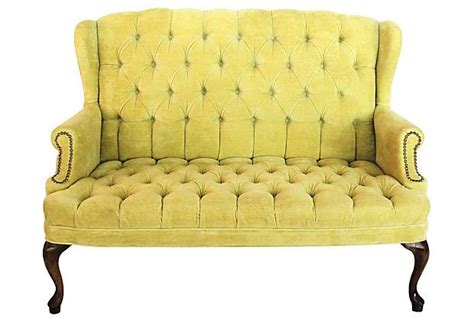 Yellow Settee Bench 1000 Images About Settee On Settees