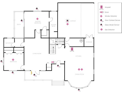 home cctv layout exle image house plan with security layout