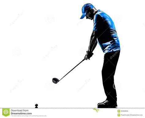 swing man golf man golfer golfing golf swing silhouette royalty free