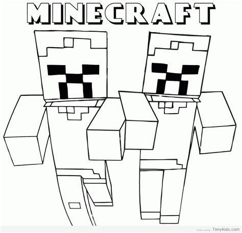 halloween coloring pages minecraft minecraft coloring pages timykids