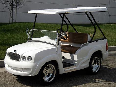 strange golf carts land rover