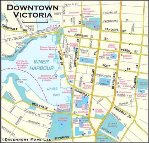 printable maps victoria bc british columbia maps downtown victoria bc map driving