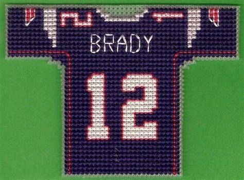 jersey stitch pattern new england patriots mini football jersey cross stitch