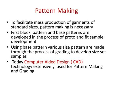 pattern making definition fin technology in apparel manufacturing