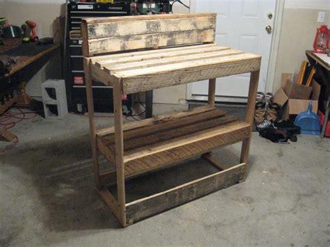 Garage Organization With Pallets Pallet Workbench Pllets Pallets Pallet