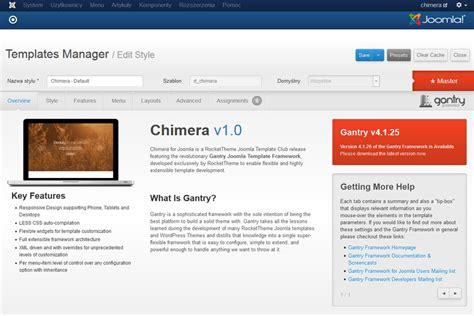 tutorial joomla gantry framework gantry dla joomla w komercyjnym szablonie rt