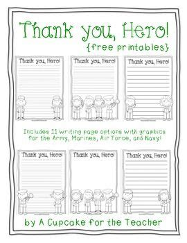 Thank You Letter To 2nd Grade Free Printable Writing Paper To Thank Members Thank You Great For Veteran S Day