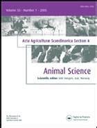 acta crystallographica section e impact factor acta agriculturae scandinavica section a animal