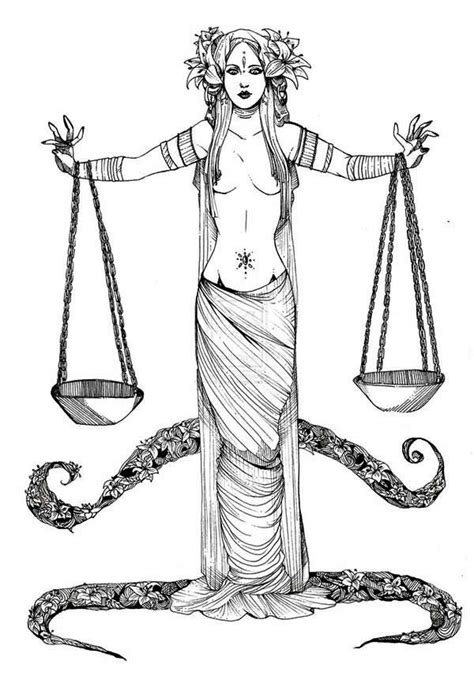 color of justice libra mythology goddess of justice coloring page