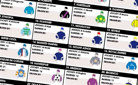 Melbourne Cup Sweepstakes - melbourne cup sweep print out 2015 sporting tips