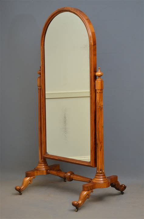 antiques atlas victorian walnut cheval mirror