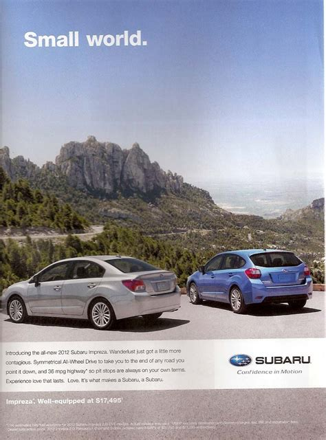 car ads in magazines subaru advertising photographs page 4