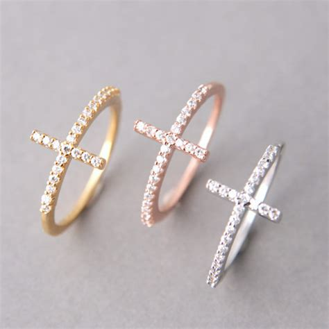 jewels cross ring gift silver cross ring cross
