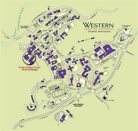map of western carolina xvon image wcu maps