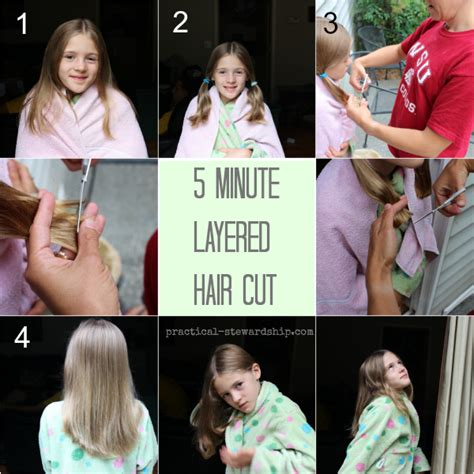 5 minute diy layered haircut my easy diy 5 minute layered haircut practical stewardship