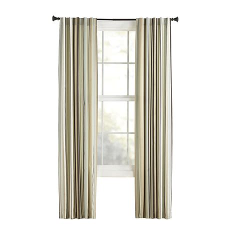 style selections curtains shop style selections bernard 63 in l striped green back