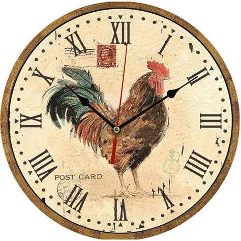 1 Pc Vintage Wooden Wall Clock Modern Design Rustic Style Large Kitchen Wall Clocks
