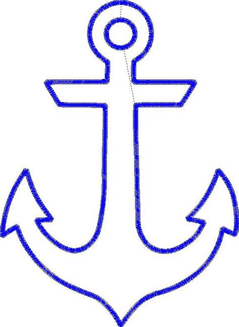 boat anchor applique design instant by sewlovelymonograms