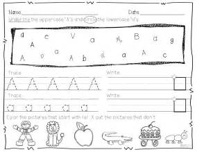 Kindergarten Break Letter also practice tracing and writing each upper and lower case letter