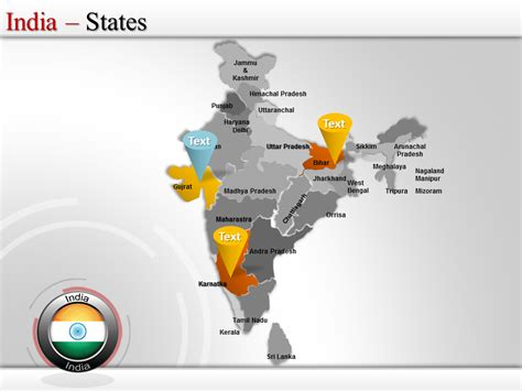Interactive Map India India Presentation Slides Editable India Map India Map Ppt