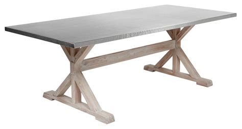 Dining Table With Stainless Steel Top Industrial Dining Tables