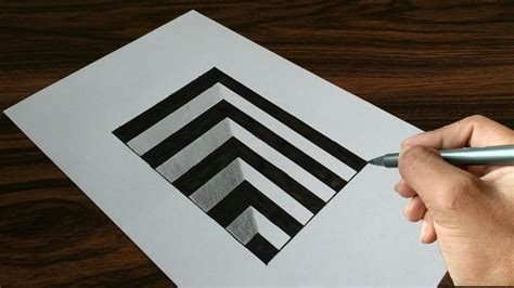 How To Make A 3d Drawing On Paper - easy drawing 3d on paper my crafts and diy projects