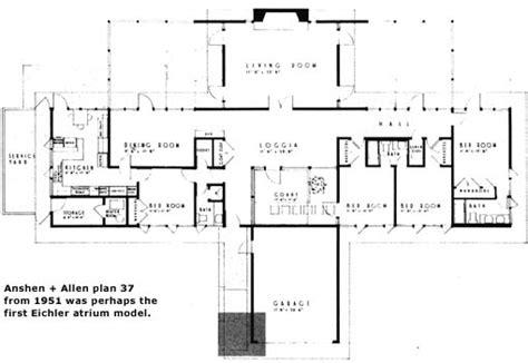 eichler atrium floor plan anshen allen plan 37 perhaps first eichler atrium model