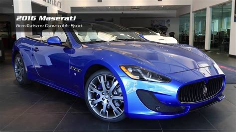 blue maserati granturismo convertible on the lot 2016 maserati granturismo convertible sport