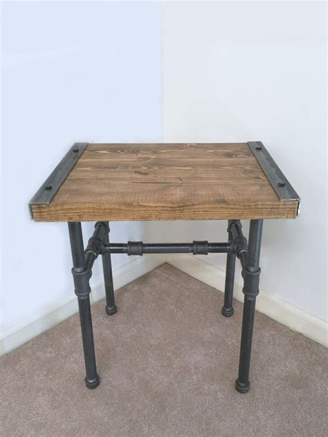 industrial end table industrial side table end table pipe table industrial