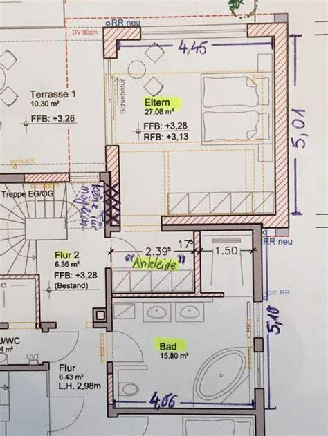 Schlafzimmer Mit Ankleide Grundriss optimierung grundriss schlafzimmer ankleide bad