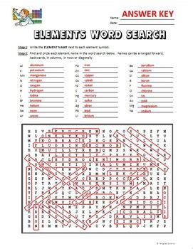 section 3 reinforcement periodic table word search answers elements word search free editable by tangstar