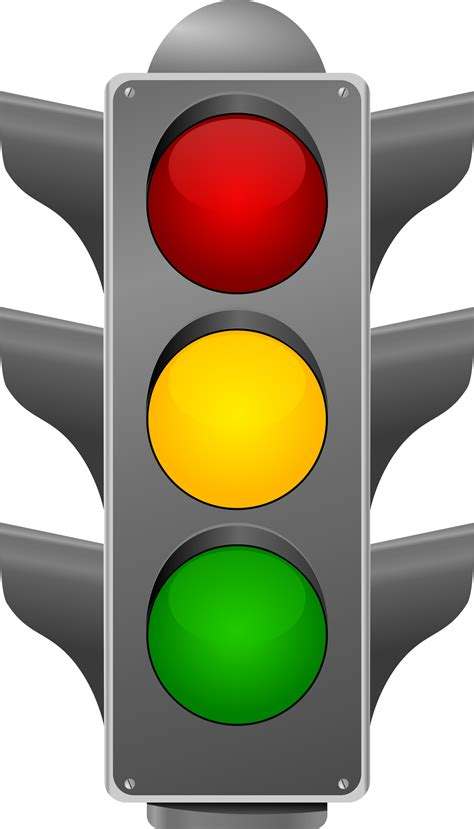 lit trafic printable traffic light clipart best