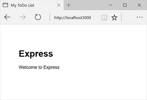 node js express generator tutorial build a node js web app for azure cosmos db microsoft docs