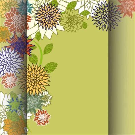 desain kartu ucapan bunga abstrak seni latar belakang latar belakang banner