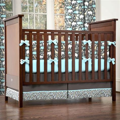 Grey Brown Crib by A Few Of Favorite Things Macsen S Crib Bedding