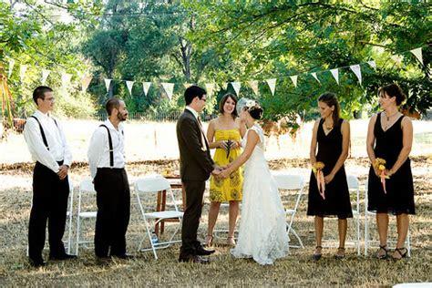 backyard wedding blog budget bride blog a backyard wedding on rock n roll bride