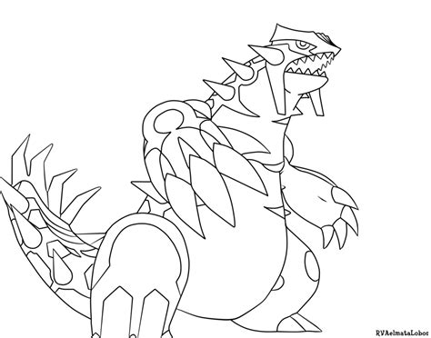 pokemon primal groudon coloring pages