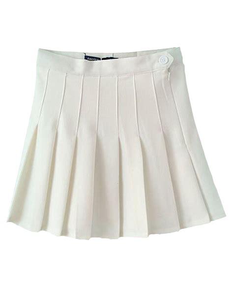 pleated high rise tennis skirt