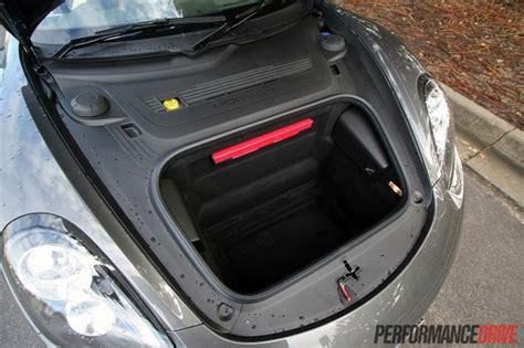 porsche trunk in front 2013 porsche cayman s front cargo space