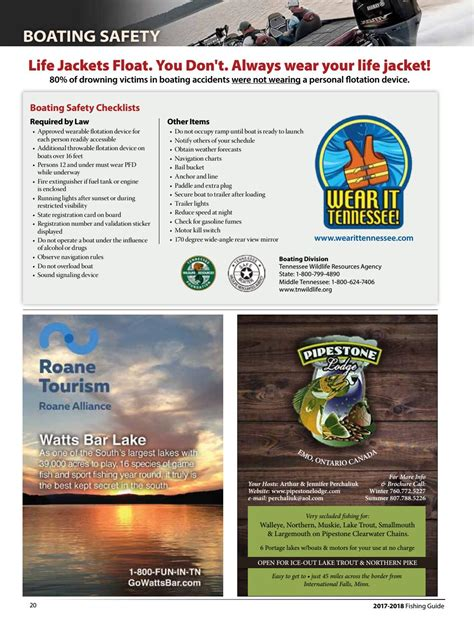 twra boat registration numbers twra fishing guide 2017 2018 by bingham group issuu