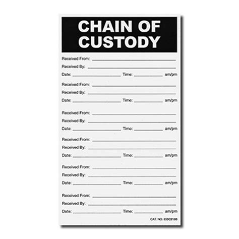 printable evidence labels chain of custody labels evidence identification labels