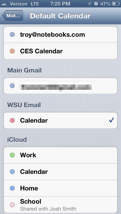set calendar as default on iphone how to set the default calendar on your iphone