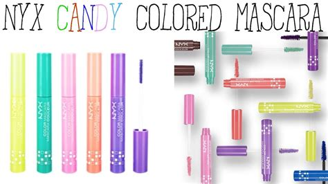 Colorful Mascaras Reviews by Nyx Colored Mascara Review Demo