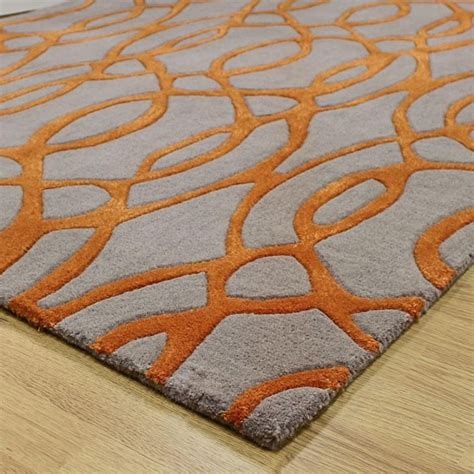 Orange And Grey Area Rug Interior Orange And Gray Area Rug Intended For