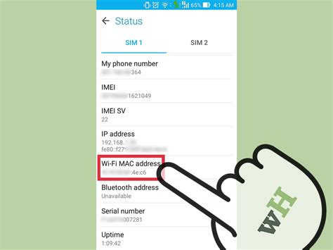 mac address android how to find the wifi mac address on an android 5 steps