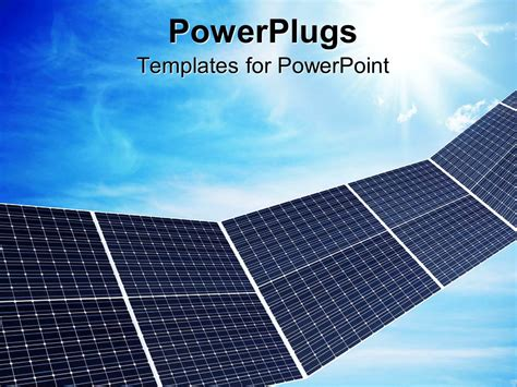 powerpoint template a close up view of some solar panels